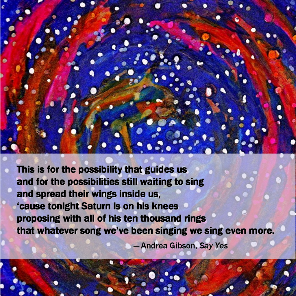 star pattern on blue and red swirls greeting card with poetry