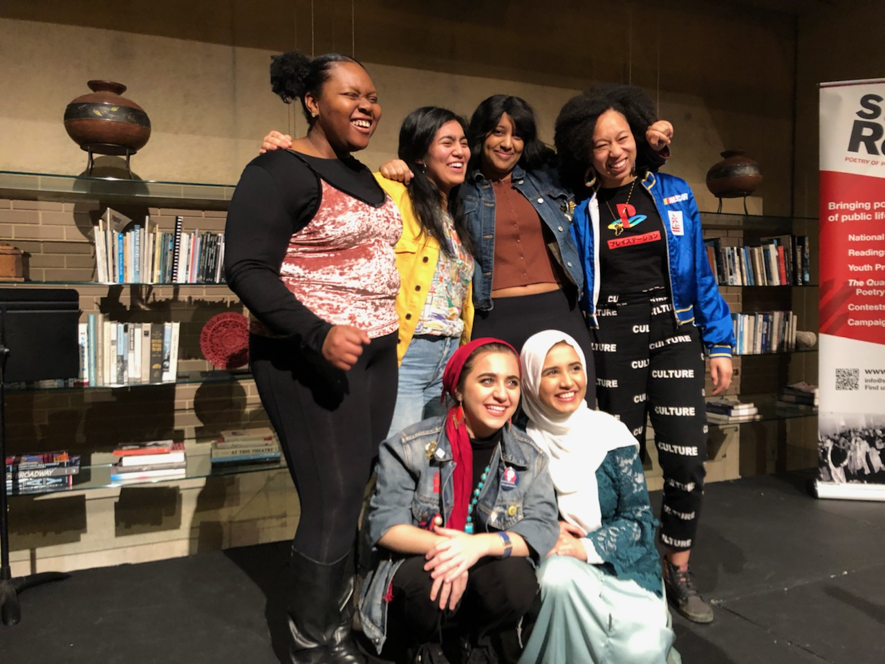 Group photo of the DC Youth Slam Team.