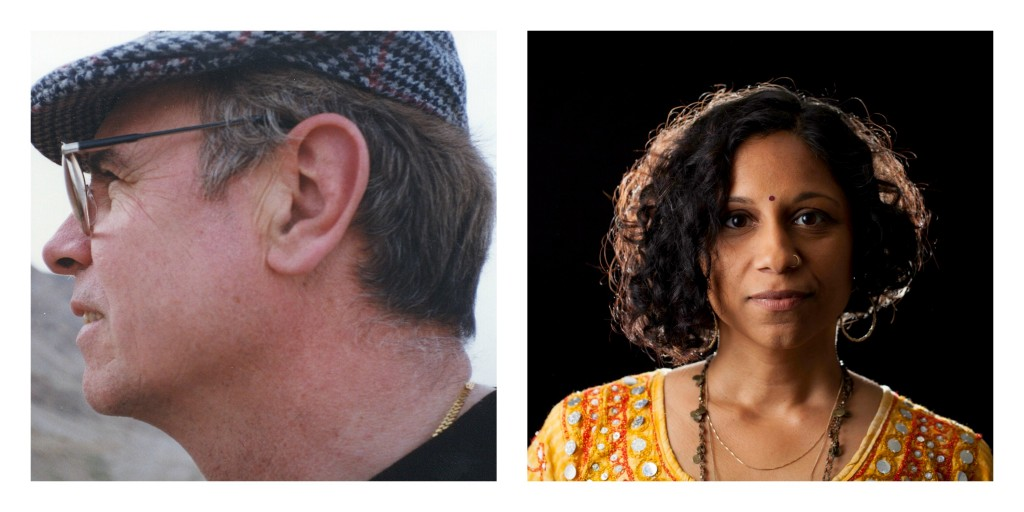 Photo collage of Luis Alberto Ambroggio on the left and Gowri Koneswaran on the right.