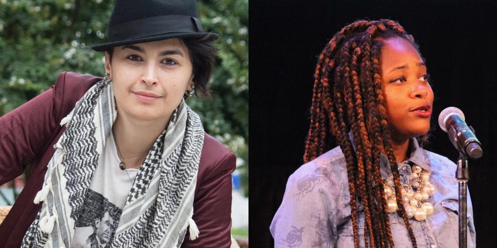 Photo collage of Rasha Abdulhadi and Lauren May.