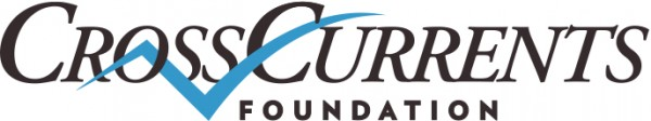 logo for CrossCurrentsFoundation. Features the name of the foundation