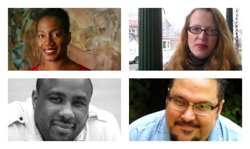 Collage featuring images of Teri Cross Davis, Heather Davis, Alan King, and Dan Vera